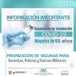 En Puerto Berrío se suspende la vacunación de COVID-19 a mayores de 55 años