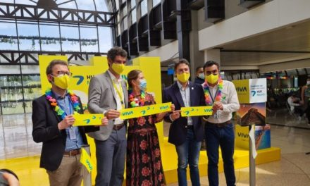 Aerolínea Viva realizó la inauguración de una nueva ruta internacional y su centro de conexiones