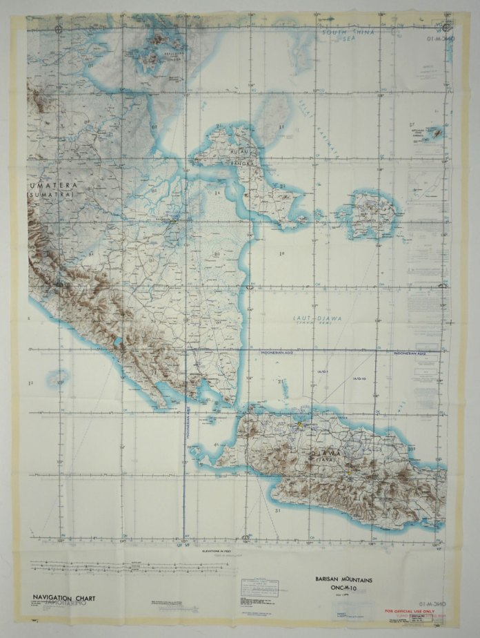 Vietnam War Cloth Map Barisan Mountains Indonesia Onc M 10 Maps Second Edition