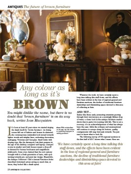 Antique Collecting article on brown furniture