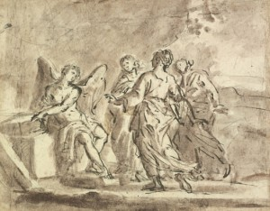 Italian School, 18th century, 'The Three Marys at the Tomb', after Annibale Carracci