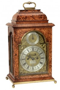 A 18th Century 'mulberry' bracket clock