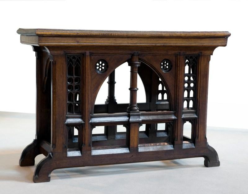 Antique decorated brown furniture