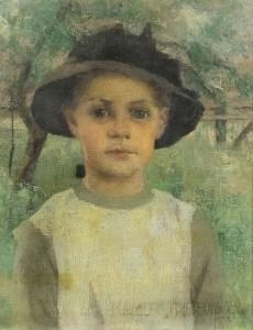 A portrait by British artist Maurice Greiffenhagen