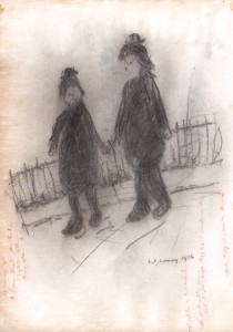 Laurence Stephen Lowry, No 16, pencil on paper, 1956, from Rowles Fine Art