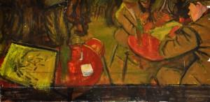Norman Cornish painting of a pub scene