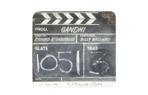 Clapperboard from Ghandi