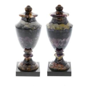 A pair of Blue John urns