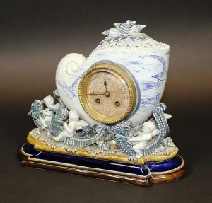 Doulton stoneware clock by the renowned ceramic artist George Tinworth