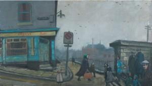 Norman Cornish, Argyle Street, oil on board 46 x 79cm ©Artist's Estate