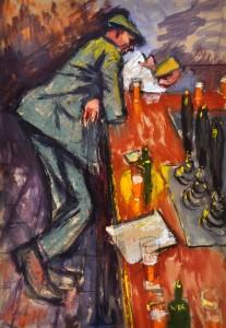 Miner at Bar by Norman Cornish