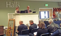Halls auctioneers on the rostrum