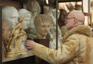 Plaster and terracotta classical busts at Fontaine