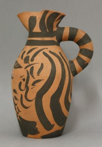 Madoura terracotta pitcher 'Yan barbu' (AR 513) by Pablo Picasso