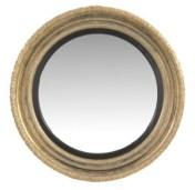 Regency giltwood convex wall mirror