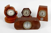 wooden desk thermometers and desk clocks