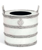 A George III silver wine cooler