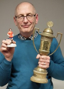 Nick Allsopp with the trophy and figurine