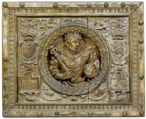 A highly important Henry VIII oak panel