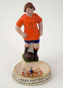 The figurine believed to have been presented to Stoke players following the Barcelona match £200-300