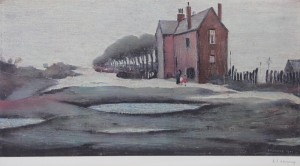 A signed LS Lowry print