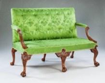 George II carved walnut settee