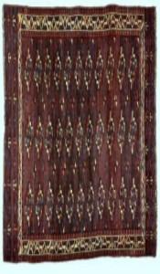 Yomut (Turkoman) tribal rug, early C19th, Turkmenistan