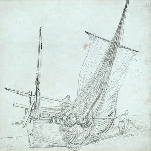 A fishing boat on Brighton Beach by John Constable