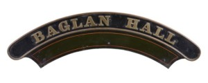 Great Western Railways Locomotive nameplate 'Baglan Hall'
