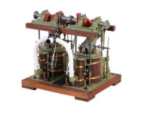model of a 19th century paddle steamer engine