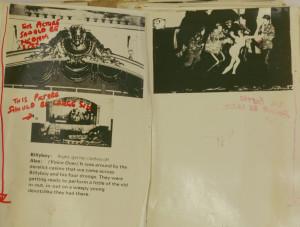 Stanley Kubrick's handwritten notes in a Clockwork Orange