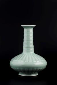 A celadon-glazed Chinese vase