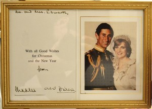 A signed Charles and Diana Christmas card from 1981