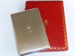 A Cartier silver cigarette case