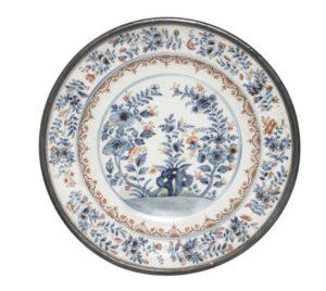 A very rare du Paquier circular dish