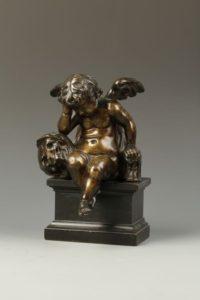 L'Ange Pleureur bronze sculpture