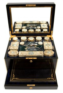 A coromandel wood dressing case