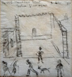 The Old Handball Court, Nelson, by LS Lowry £7000