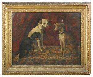 Portrait of three favourite dogs