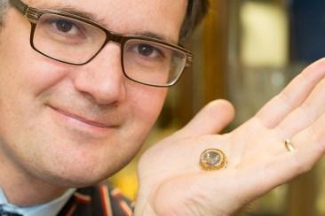 Charles Hanson and a rare rock crystal slide