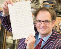 Charles Hanson with the Nelson letter