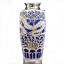 Deusch & Co. Graff and Krippner porcelain vase with silver overlay, £1,400 from Richard Hoppé Fine Antiques