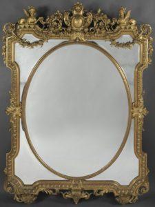 A Fine Louis XIV Style Marginal Frame Mirror