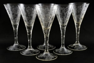six 19th century drinking glasses Great Exhibition (2)
