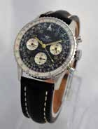 1965 Vintage Breitling Navitimer Cosmonaute 24 Hour dial wristwatch