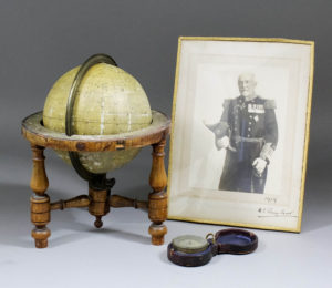 Cust's Star-Finder with photo ofAdmiral Cust and his pocket barometer £500-700