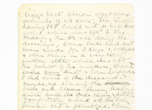 Entries from diary of Matron and Nurse Miss Katy Beaufoy