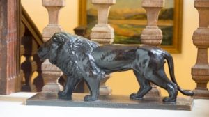 A lion statue given to Winston Churchill