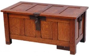 Arts & Crafts oak coffer