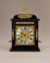 Charles II period hour striking and repeating spring table clock